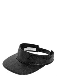 Stella Mccartney Snake Embossed Faux Leather Visor