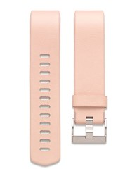 Fitbit Charge 2 Leather And Stainless Steel Small Accessory Band Pink