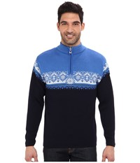 Dale Of Norway St. Moritz Masculine C Navy Sochi Blue Cobalt Off White Men's Sweater Black