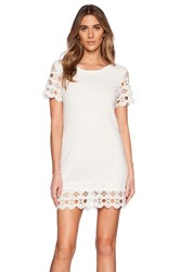 Liv Mary Eyelet Shift Dress White