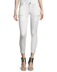 Joie Park Twill Skinny Pants Winter White