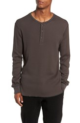Wings Horns Long Sleeve Thermal Henley Stone