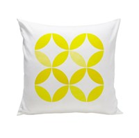 Spot On Square Big Tops Organic Pillow Yellow