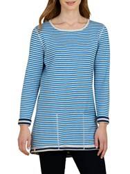 Seasalt Henon Reversible Tunic Top Duo Marine Cobalt