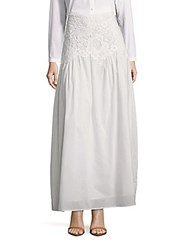 See By Chloe Lace Trimmed Maxi Skirt Cloud