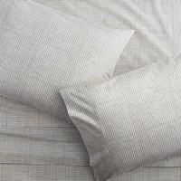 Cb2 Graph Percale Queen Sheet Set