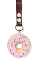 J.W.Anderson Woman Embellished Leather Keychain Bubblegum