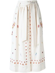 Temperley London Juniper Skirt Nude Neutrals