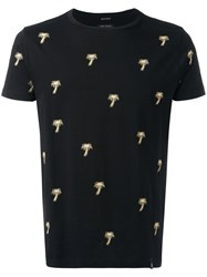 Marc Jacobs Embroidered Palm Tree T Shirt Black