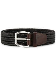 Orciani Woven Buckle Belt Brown