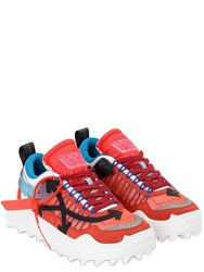 Off White Odsy Chunky Tech Low Top Sneakers Red