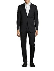 Michael Kors Solid Check Wool Suit Navy
