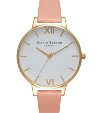 Olivia Burton Ob16bdw13 Big Dial Gold Plated And Leather Watch Stainless Steel