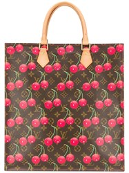 Louis Vuitton Vintage Limited Edition Cherry Monogram Tote Bag Brown