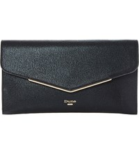 Dune Epeonnie Envelope Clutch Bag Black Synthetic