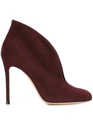 Gianvito Rossi 'Vamp' Booties Pink And Purple