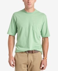 Izod Solid Double Layer Jersey Pocket T Shirt Seacrest