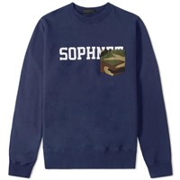 Sophnet. Pocket Crew Sweat Blue