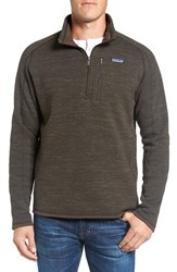 Patagonia Men's 'Better Sweater' Quarter Zip Pullover Dark Walnut