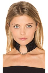 Breelayne X Revolve Lace Ivy With Silver Ring Choker Black