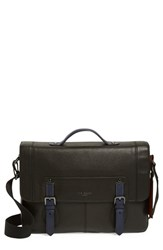 Men's Ted Baker London 'Boombag' Leather Messenger Bag Black