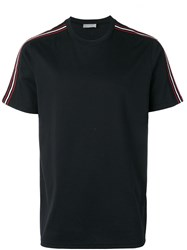 Christian Dior Homme Stripe Sleeve T Shirt Black
