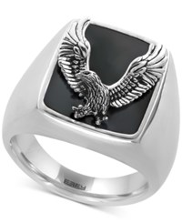 Effy Men's Onyx 16 3 4 X 13 1 2Mm Eagle Ring In Sterling Silver Black