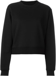 Derek Lam 10 Crosby Tie Detail Sweatshirt Black
