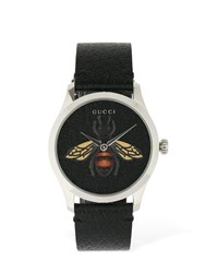Gucci G Timeless Contemporary Bee Watch Black