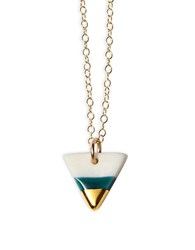 Brika Triangle Pendant Necklace Teal
