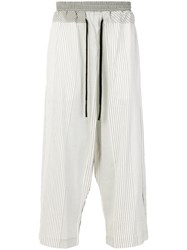 Lost And Found Ria Dunn Loose Fit Trousers Silk Cotton White