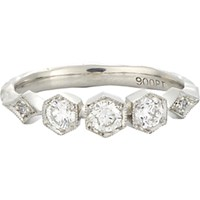 Cathy Waterman Women's Triple Hexagonal Bezel Ring No Color