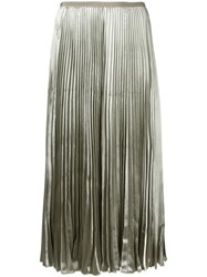 Valentino Pleated Midi Skirt Green