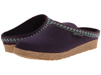 Haflinger Gz Classic Grizzly Eggplant Clog Shoes Purple