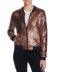 Eleven Paris Polnareff Sequin Bomber Jacket 100 Bloomingdale's Exclusive Rose Gold