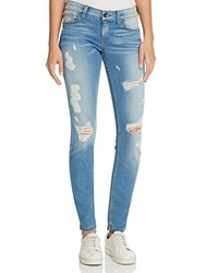 Guess Power Distressed Skinny Jeans In Void