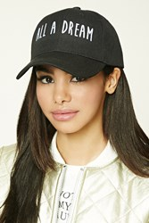 Forever 21 All A Dream Baseball Cap Black White