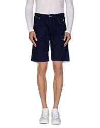 Ganesh Trousers Bermuda Shorts Men Dark Blue