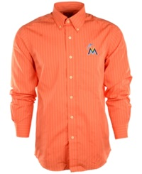 Antigua Men's Long Sleeve Miami Marlins Button Down Shirt