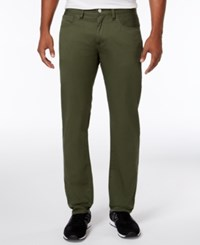 Armani Exchange Men's Straight Fit Stretch Twill Jeans Olive