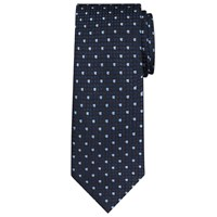 Daniel Hechter Square Dot Woven Silk Tie Navy Blue