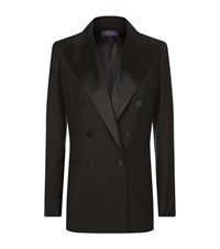 Polo Ralph Lauren Wool Tuxedo Jacket Female Black