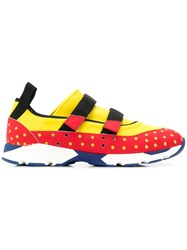 Marni Perforated Panel Sneakers Yellow