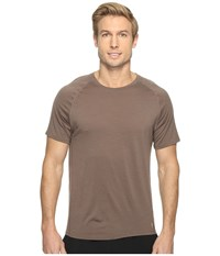 Smartwool Merino 150 Baselayer Pattern Short Sleeve Taupe Men's T Shirt