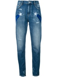Zoe Karssen Star Detail Jeans Women Cotton 24 Blue