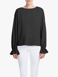 French Connection Gathered Cuff Jumper Black