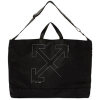 Off White Black Unfinished Arrows Tote