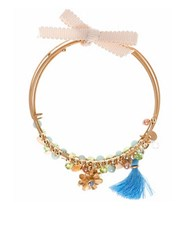 Lonna And Lilly Coil Flower Beaded Bracelet Blue