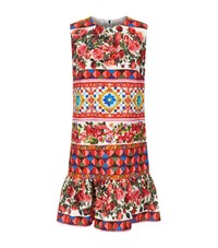 Dolce And Gabbana Mambo Print Pinafore Dress Female Red