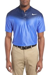 Nike Men's Zonal Cooling Fade Golf Polo Blue Navy Black